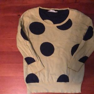 Lovely Large Polka Dot Sweater -Green and Blue